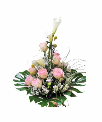 Sympathy Bouquet of pink roses