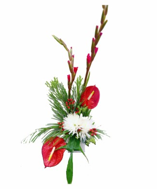 corporate flowers arrangement of anthurium and chrysanthemum