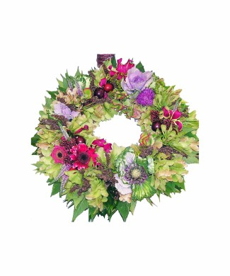 table centerpice wreath