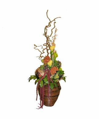 corporate floral arrangement dried flowers