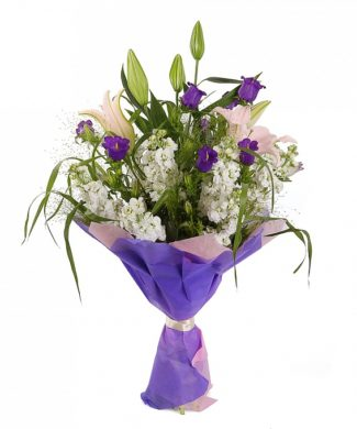 bouquet of lillies and alstroemeria
