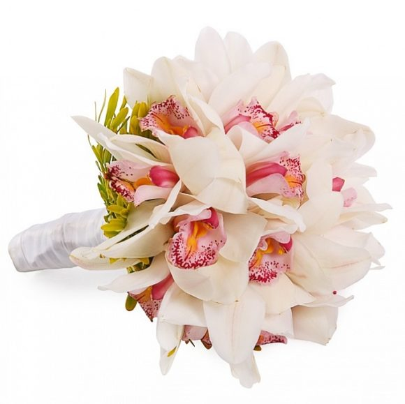 bridal bouquet of orchids
