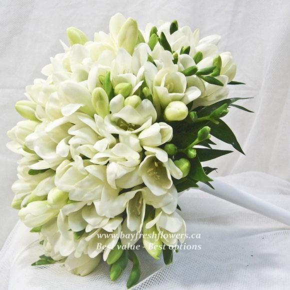 bouquet for wedding of white alstroemeria