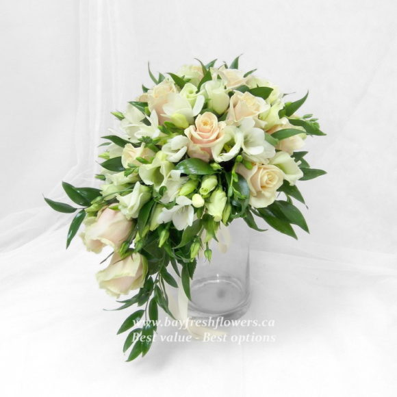 bouquet for wedding of ivory roses