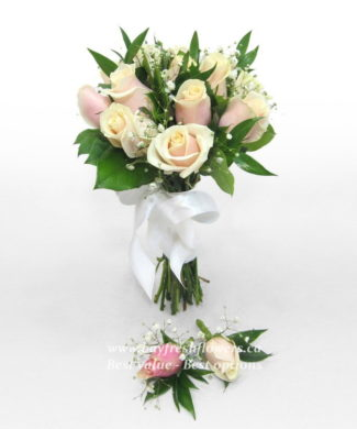 bouquet for wedding of cream roses