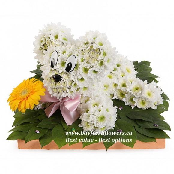 toys from flowers - polar bear