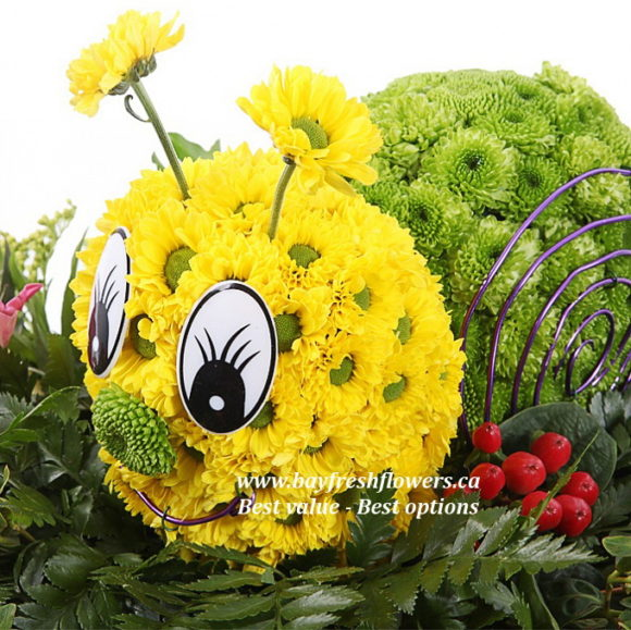 toys from flowers - snail