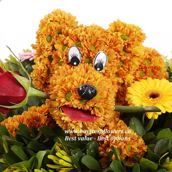 toys from flowers - puppy