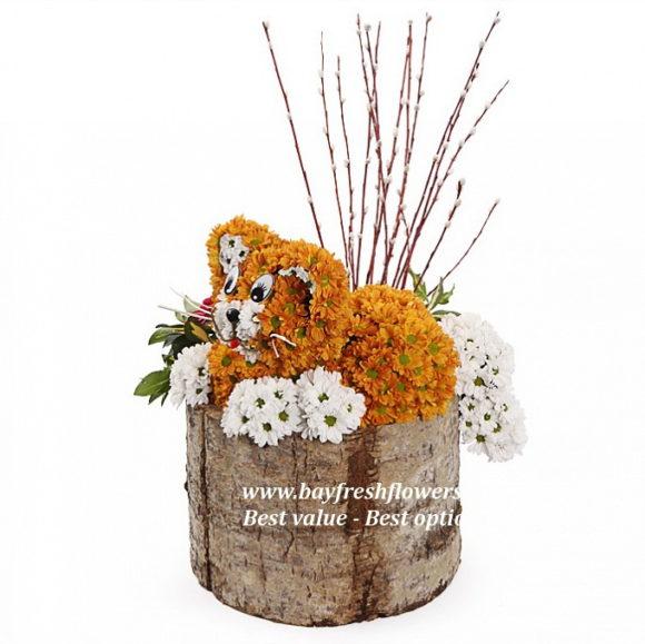 toys from flowers - kitten