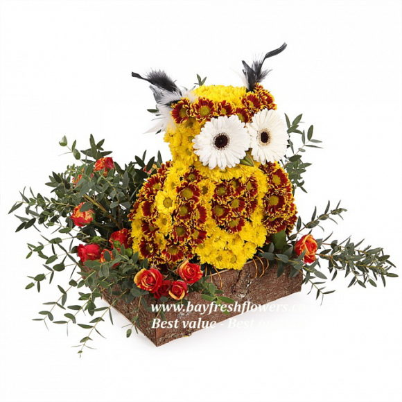 toys from flowers - owl