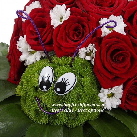 toys from flowers - ladybug