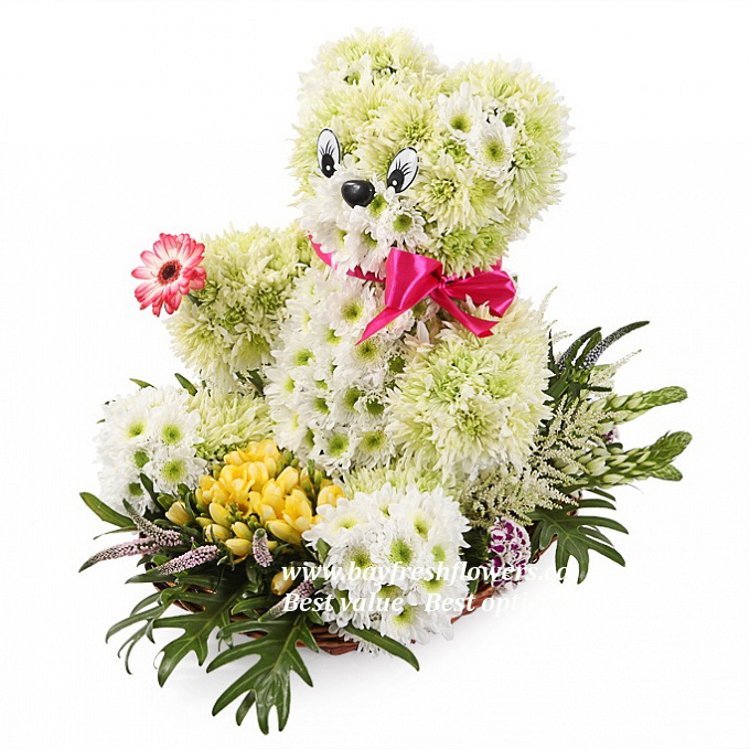 Bear with a flower - Toys from flowers Buy in Vancouver. Fresh ...