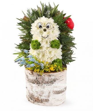 toys from flowers - little hedgehog