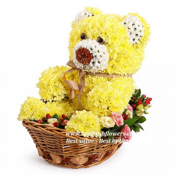 toys from flowers - little bear