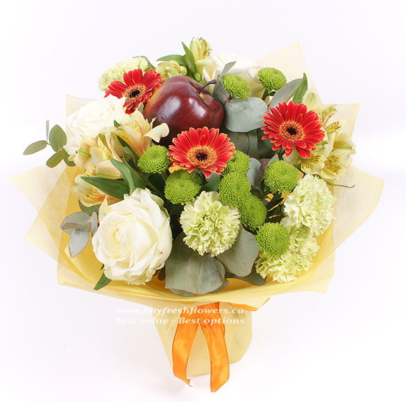 Bbouquet of gerbers, roses and carnations