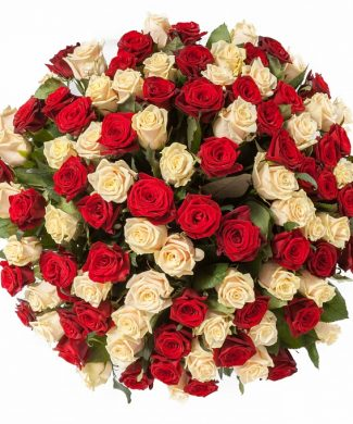 2005 Impressive bouquet of roses - extra large mix of 50, 100, 200 red and white roses