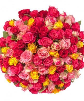 2007 Huge bouquet of roses - Mix colour