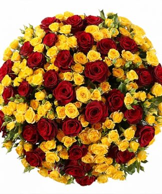 2029 Huge bouquet of roses - mix of 50,100,200 red and yellow roses