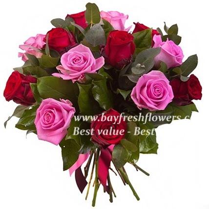 Dozen mixed color roses