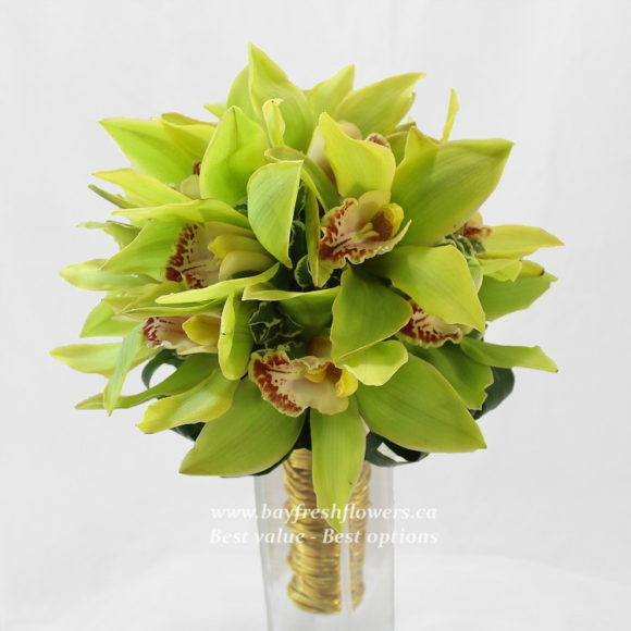 bouquet for wedding of orchids