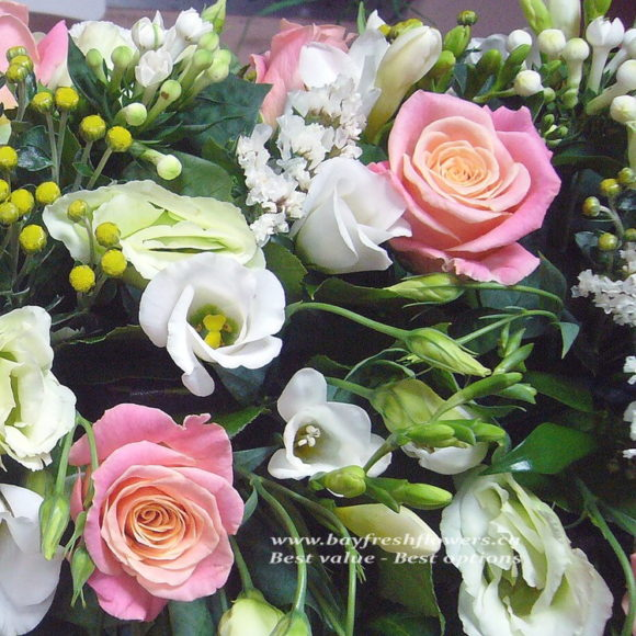Wedding flowers and centerpieces in white-orange colors