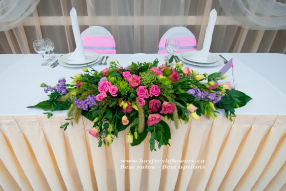 wedding flowers and centerpieces with pink roses