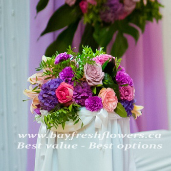 Wedding flowers and centerpieces with hydrangea