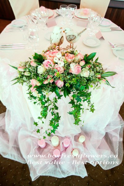 Wedding flowers and centerpieces with roses