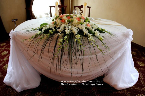 Wedding flowers and centerpieces with orchids