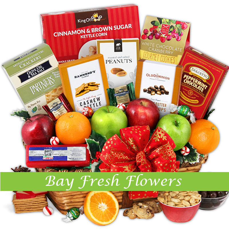 Fruit Flower Baskets Vancouver : Christmas candy basket buy in vancouver fresh flowers