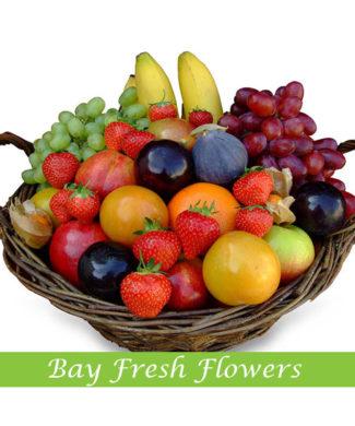 Christmas fruit gift basket