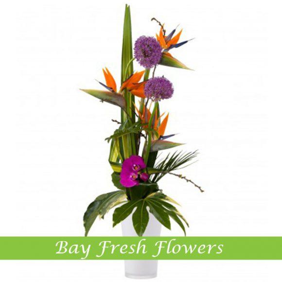 Сorporate Flower Arrangement with strelizia