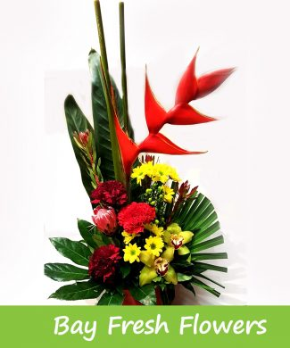 corporate exotic flowers arrangement