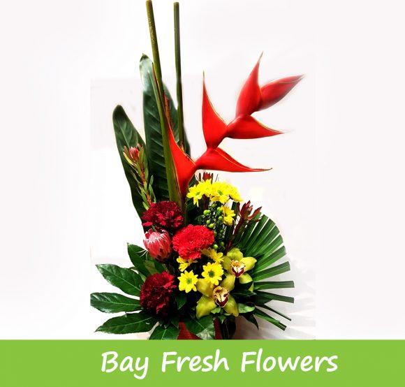 corporate exotic flowers arrangement
