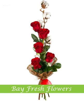 men's bouquet of red roses