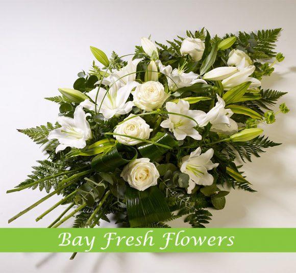 Sympathy wreath arrangement