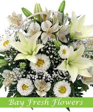 Sympathy flowers basket