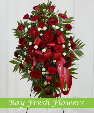 Large standing sympathy wreath