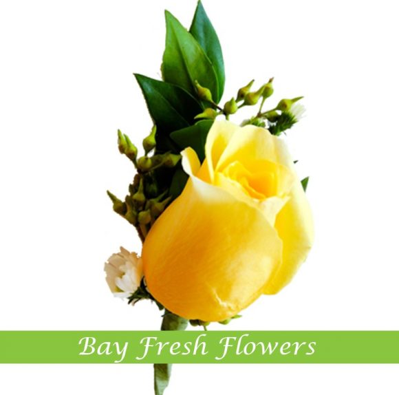 Yellow rose - Groom boutonniere