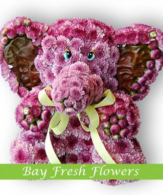 Violet elephant of flowers gift