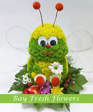 Gift cheerful bee from flowers