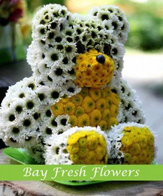 White yellow bear of flowers