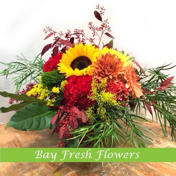 cute autumn floral arrangement