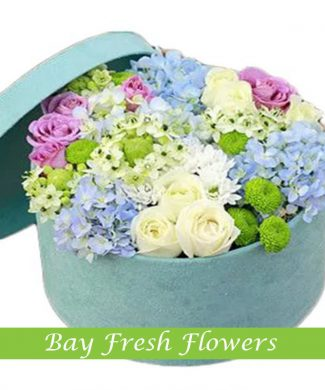 flowers mix in the hatbox