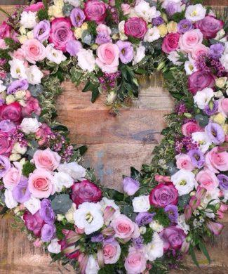 1526 Love - Heart flower arrangement