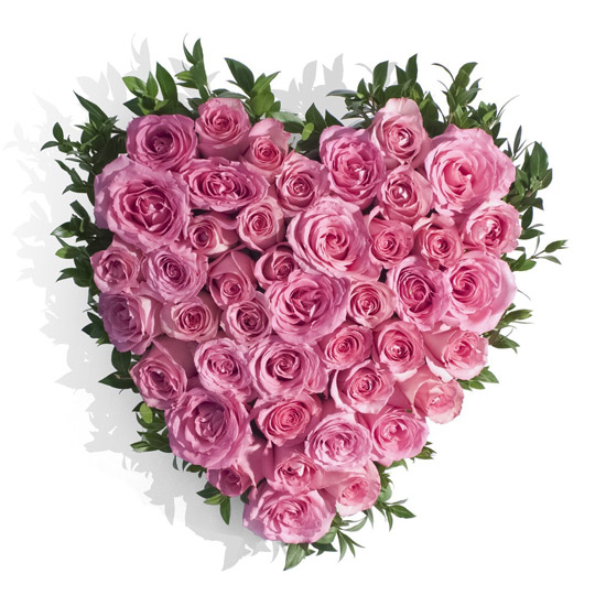 Knight In Love Pink Floral Heart Buy In Vancouver Fresh Flowers