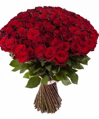 2028 - BIG LOVE - Huge bouquet of 100 and more long stem red roses