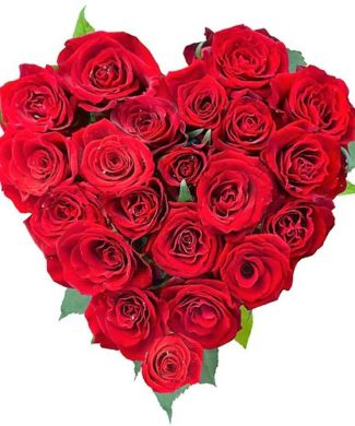 25000 Love and commitment - Red roses heart